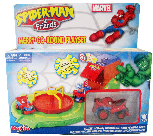 Spider-Man and Friends - Merry-Go-Round Playset - with Spider-Man