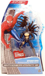 Black Costume Spider-Man With Symbiote Busting Double Punch