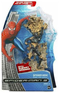 Black Costume Spider-Man With Subway Sandman