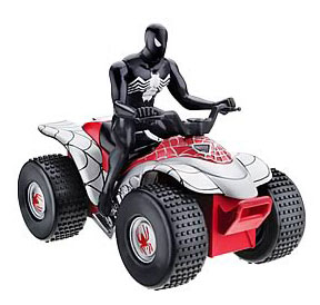 Bump N Go Black Spidey on Quad