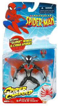 Spectacular Spider-Man: Spider Charged Black Costum Glider Wings Spider-Man