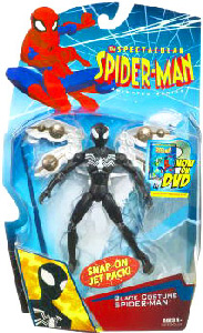 Spectacular Spider-Man: Snap-On Jet Pack Black-Costume Spider-Man