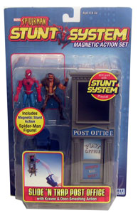 Spiderman Stunt - Slide N Trap Post Office with Kraven