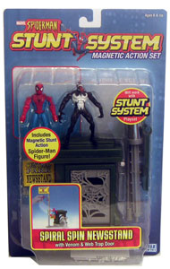 Spiderman Spiral Spin Newsstand with Venom