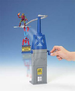 Spiderman Vertical Swing Radio Tower with Green Goblin