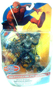 Spiderman Trilogy - Black-Suited Spiderman Super Poseable