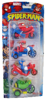 Spider-Man and Friends - Bike and Trikes Buddies - Spider-Man, Spider-Girl, Captain America, Hulk