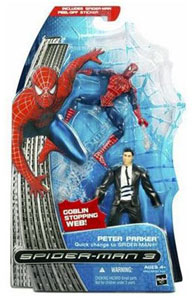 Peter Parker Quick Change to Spiderman