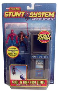 Spiderman Stunt - Slide N Trap Post Office with Kraven