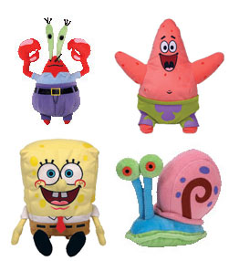 7-Inch SpongeBob - Set of 4 Beanie Baby