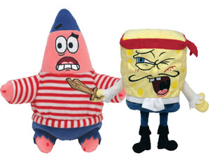 7-Inch Pirate SpongeBob Collection Set of 2 [Captain Spongebob, First Mate Patrick]