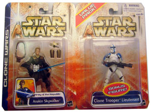 Anakin Skywalker and Clone Trooper Lieutenant 2-Pack