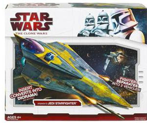 Clone Wars 2009 Red Box - Anakin Delta 2 Jedi Starfighter
