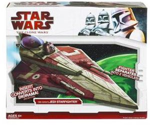 Clone Wars 2009 Red Box - Obi-Wan Delta 2 Jedi Starfighter