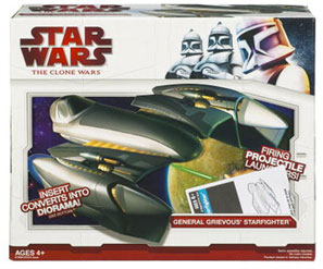 Clone Wars 2009 Red Box - General Grievous Starfighter