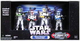 Clone Trooper 4-Pack Battle Damaged Colored Clone Troopers