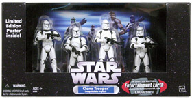 Clone Trooper 4-Pack Battle Damaged White Clone Troopers