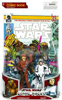Star Wars Comic Pack - Han Solo in Stormtrooper and Chewbacca