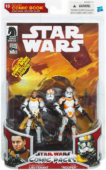 Star Wars Comic Pack -  Clone Lieutenant Trooper and Clone Trooper