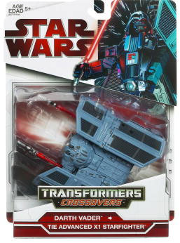 SW Transformers Crossovers 2009 Red Back - Darth Vader - Tie Advanced Starfighter
