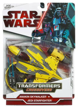SW Transformers Crossovers 2009 Red Back - Anakin Skywalker - Jedi Starfighter