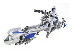 Clone Wars 2008 - Clone Trooper with BARC Speeder