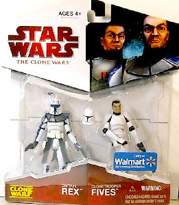 Clone Wars 2009 - Red Back Exclusive Captain Rex and Clone Trooper Fives