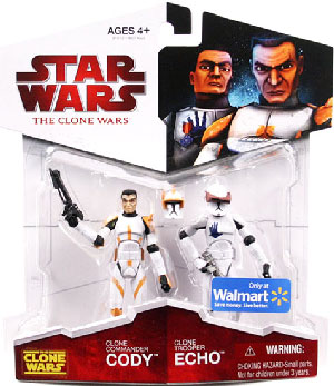 Clone Wars 2009 - Red Card - Clone Commander Cody and Clone Trooper Echo