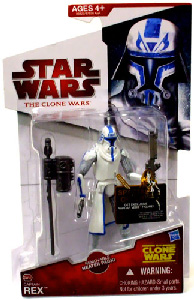 Clone Wars 2009 Red Back - Captain Rex with Removable Heater Pack