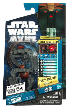 Star Wars Clone Wars 2010 - Black and Blue - Destroyer Droid CW04