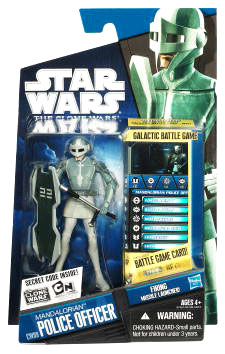 Star Wars Clone Wars 2010 - Black and Blue - Mandalorian Police Officer CW09