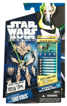 Star Wars Clone Wars 2010 - Black and Blue - General Grievous with Parts