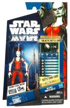 Star Wars Clone Wars 2010 - Black and Blue - Aurra Sing