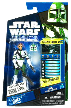 Star Wars Clone Wars 2010 - Black and Blue - Commander Gree