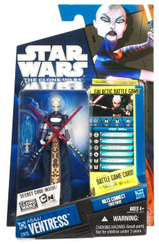 Star Wars Clone Wars 2010 - Black and Blue - Asajj Ventress