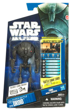 Star Wars Clone Wars 2010 - Black and Blue - Super Battle Droid CW16