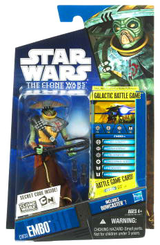 Star Wars Clone Wars 2010 - Black and Blue - Embo CW33