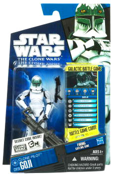 Star Wars Clone Wars 2010 - Black and Blue - Clone Pilot Goji