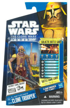 Star Wars Clone Wars 2010 - Black and Blue - Flamethrower Clone Trooper