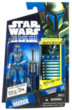 Star Wars Clone Wars 2010 - Black and Blue - Mandalorian Warrior