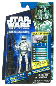 Star Wars Clone Wars 2010 - Black and Blue - Jungle Camo ARF Trooper