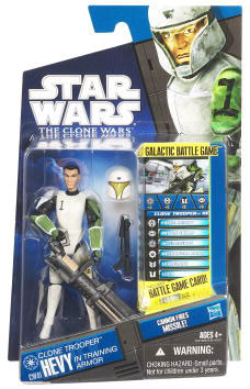 Star Wars Clone Wars 2010 - Black and Blue - Clone Trooper Hevy in Training Armor