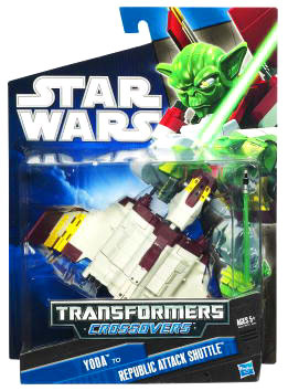SW Transformers Crossovers Black and Blue - Yoda to Attack Shuttle