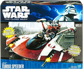 Clone Wars 2011 Black and Blue Box - Jedi Turbo Speeder