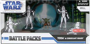 BATTLE PACKS YODA and CORUSCANT Guard Exclusive