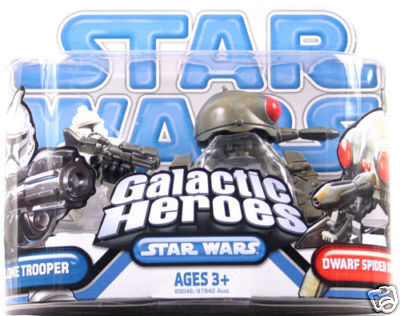 Galactic Heroes - Clone Trooper AND Dwarf Spider Droid BLUE