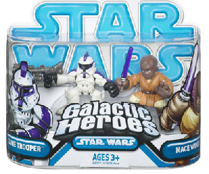 Galactic Heroes - Purple Clone Trooper and Mace Windu BLUE