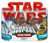 Galactic Heroes - R2-D2 and 2 Jawas RED