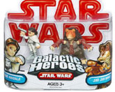 Galactic Heroes - Padme Amidala and Jar Jar Binks RED