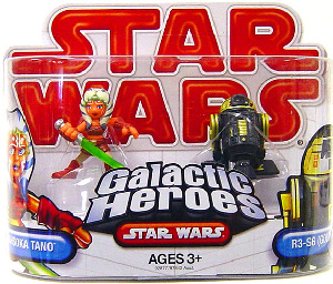 Galactic Heroes - Ahsoka Tano and R3-S6 Goldie RED